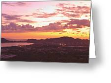 View Of Cabo San Lucas And Tip Of Baja Greeting Card