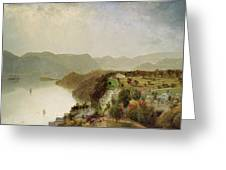 View Of Cozzen's Hotel Near West Point Ny Greeting Card