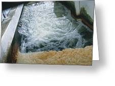 View Of Flotation Waste Water Treatment Greeting Card