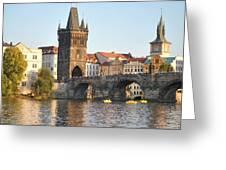 View Of Karluv Most Prague Greeting Card