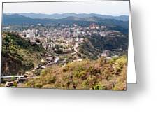 View Of Katra Township While On The Pilgrimage To The Vaishno Devi Shrine In Kashmir In India Greeting Card