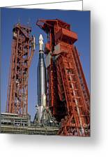 View Of Launch Pad 14 During Prelaunch Greeting Card