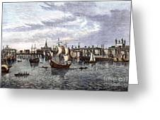 View Of London, 1550 Greeting Card