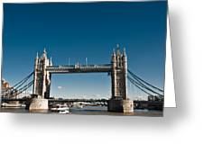 View Of London Bridge From The Thames Greeting Card