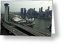 View Of Marina Bay Sands And Other Buildings From The Singapore  Greeting Card