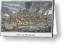 View Of Pittsburgh, 1836 Greeting Card by Granger