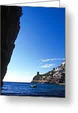 View Of Praiano Italy Greeting Card by Cliff Wassmann