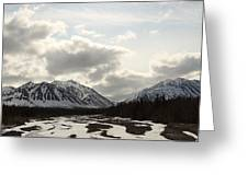 View Of Quill Creek In Kluane National Greeting Card