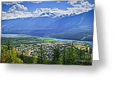 View Of Revelstoke In British Columbia Greeting Card by Elena Elisseeva