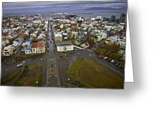 View Of Reykjavik Greeting Card
