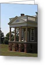 View Of South Portico At Poplar Forest Greeting Card