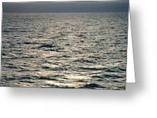 View Of Sunlit Waves On Open Water Greeting Card