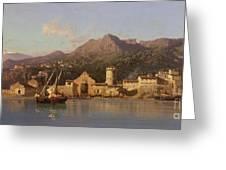 View Of Taormina Sicily Greeting Card