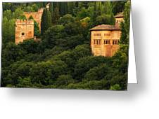 View Of The Alhambra In Spain Greeting Card