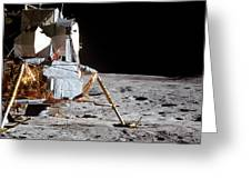 View Of The Apollo 14 Lunar Module Greeting Card