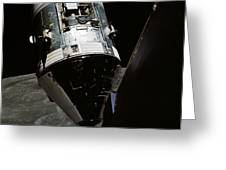 View Of The Apollo 17 Command Greeting Card