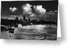 View Of The City Of London Greeting Card