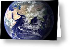 View Of The Earth From Space Showing Greeting Card by Stocktrek Images