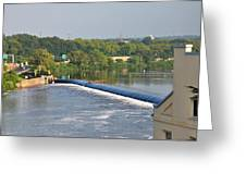 View Of The Fairmount Dam  Greeting Card