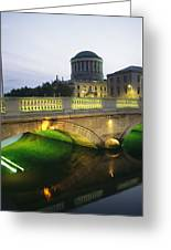 View Of The Four Courts And The Liffey Greeting Card