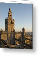 View Of The Giralda Tower Greeting Card