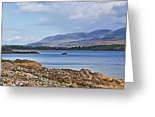 View Of The Isle Of Arran Greeting Card