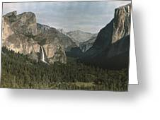View Of The Mountain El Capitan Greeting Card