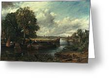 View Of The Stour Near Dedham Greeting Card