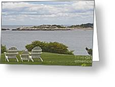 View Of Tinkers Island Greeting Card