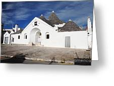 View Of Trullo Sovrano Greeting Card