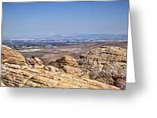 View Of Vegas Greeting Card