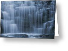 View Of Water Cascading Greeting Card