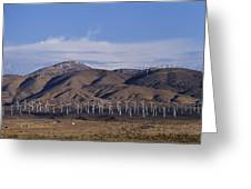 View Of Windmill Structures On A Wind Greeting Card
