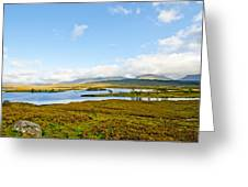View Over Loch Ba Greeting Card