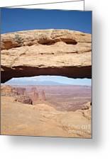 View Through Mesa Arch Greeting Card