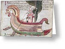Viking Ship - 10th Century Greeting Card