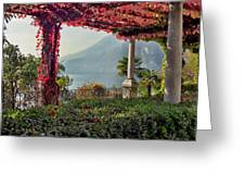 Villa Cipressi Pergola On Lake Como I Greeting Card
