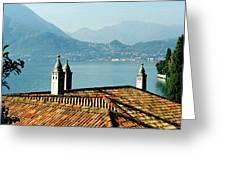 Villa Monastero Rooftop And Lake Como Greeting Card