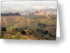 Villa On A Hill In Tuscany Greeting Card
