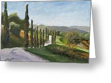Casa Benne Villa Road Greeting Card