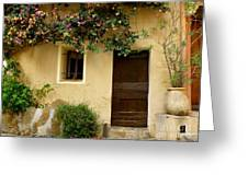 Village House In Bormes Greeting Card