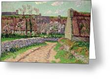 Village In Clohars Greeting Card