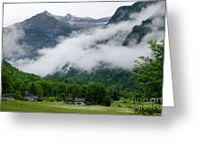 Village In The Alps Greeting Card