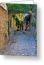 Village Lane Provence France Greeting Card