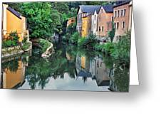 Village Reflections In Luxembourg II Greeting Card