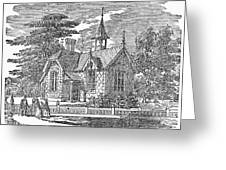 Village Schoolhouse, C1840 Greeting Card