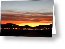 Village Sunset Greeting Card