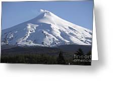 Villarrica, Steaming Crater, Araucania Greeting Card