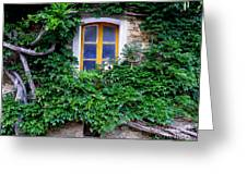 Vine Covered Stone House Greeting Card