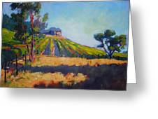 Vineyards At Sarver Greeting Card